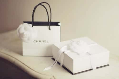 chanel bag box