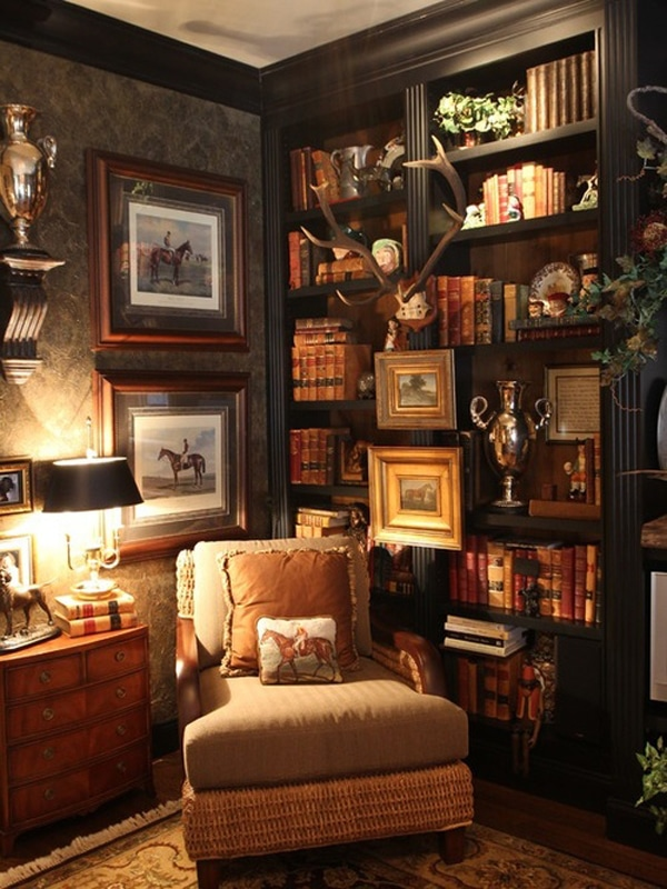 Inredningstips f stilen english cosy inredningsvis for Decorating with books house beautiful