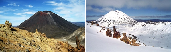 Mt. Ngaruahoe, high on the volcanic plateau