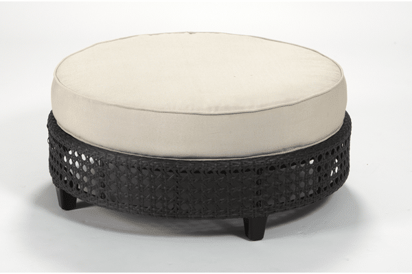 dacore-tradgardsbord-hampton-black-leather-nature-cushion