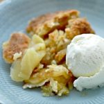 Apple pie with cinnamon ice cream