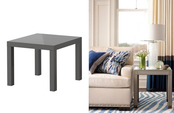 Ikea hacks 10 ways to glam hack ikea furniture - Table basse salon ikea ...