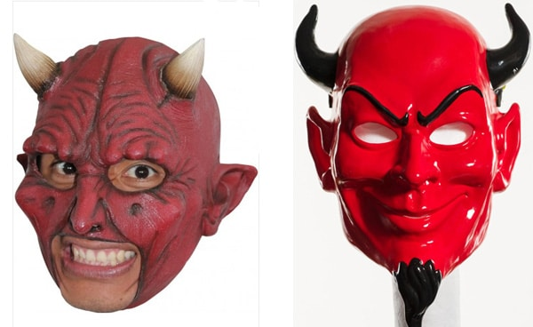 halloween mask red devil