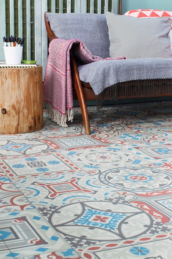 Moroccan decor floor