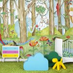 Lovely children's wallpaper