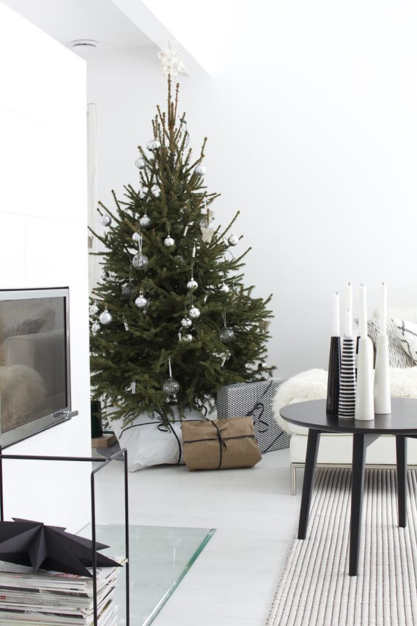 black christmas decor